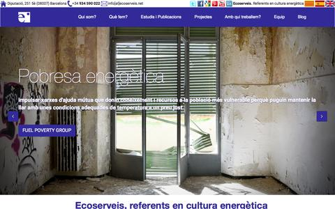 Screenshot of Home Page ecoserveis.net - Inici - Ecoserveis - captured July 19, 2015