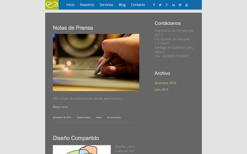 Screenshot of Blog kausa.com.mx - Blog - Kausa Creativa | Espacio para la creatividad | Kausa Creativa | Estudio de Diseño en Querétaro - captured Feb. 12, 2016