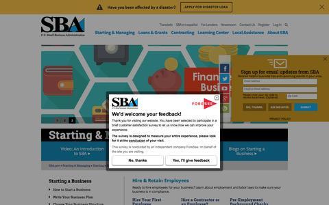 Hiring | The U.S. Small Business Administration | SBA.gov