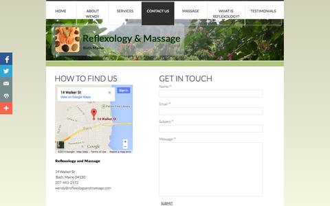 Screenshot of Privacy Page Contact Page reflexologyandmassage.com - Contact Us - captured Oct. 22, 2014