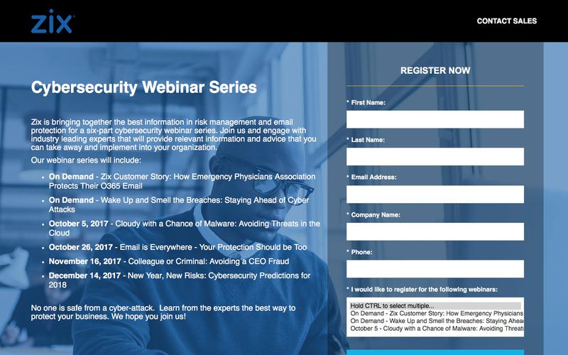 2017 Cybersecurity Webinar Series