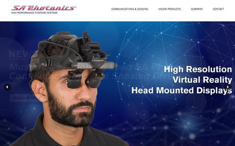 Screenshot of Home Page saphotonics.com - SA Photonics – SA Photonics - captured July 12, 2019