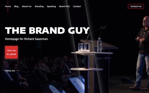 Screenshot of Home Page the-brand-guy.com - Brand Consultant in Sydney – The Brand Guy - captured Sept. 21, 2018
