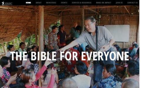 Screenshot of Home Page bible.org.sg - Bible Society of Singapore | Our mission is to make the Word of God known to all people by making it available through the work of translation & publishing, accessible through distribution & literacy programmes, and credible through engagement & advo - captured Nov. 22, 2016