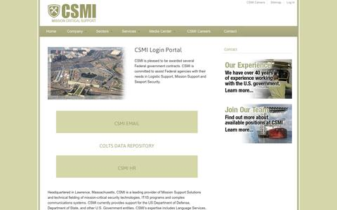 Screenshot of Login Page csmi.com - Login Portal | csmi.com - captured Sept. 26, 2014