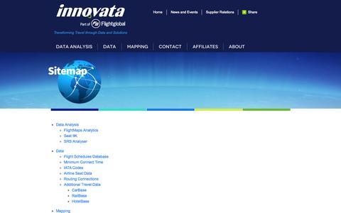 Screenshot of Site Map Page innovata-llc.com - Sitemap | Innovata - captured June 21, 2015