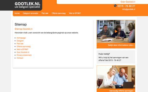 Screenshot of Site Map Page gootlek.nl - Sitemap - Gootlek.nl - captured Sept. 3, 2017