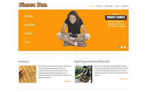 Screenshot of Home Page fiercefun.com - Fierce Fun | Just another WordPress site - captured Sept. 30, 2014