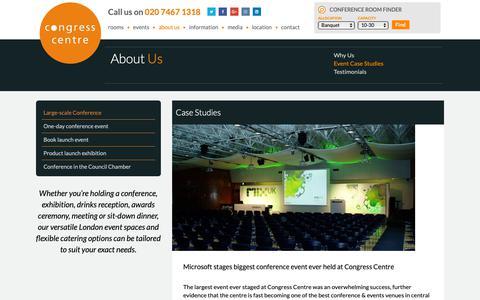 Screenshot of Case Studies Page congresscentre.co.uk - Large-scale Conference - Congress Centre - captured Dec. 8, 2018