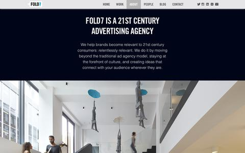 Screenshot of About Page fold7.com - About Independent 21st Advertising Agency UK  | Fold7 - captured May 20, 2019