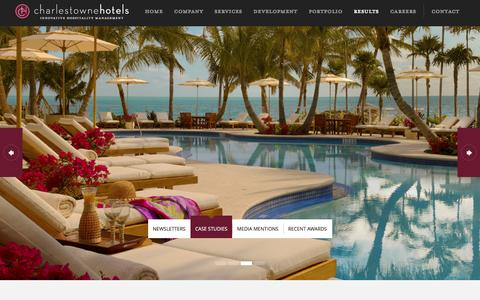 Screenshot of Case Studies Page charlestownehotels.com - Case Studies - Charlestowne Hotels - captured Jan. 27, 2016