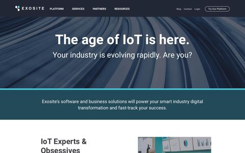 Internet of Things (IoT) Platform for Connected Devices | Exosite