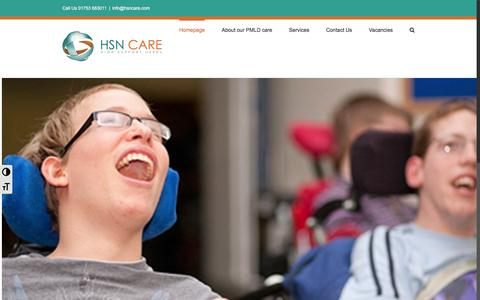 Screenshot of Home Page hsncare.com - Enabled Living Services - captured March 23, 2017