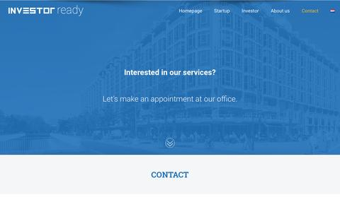 Screenshot of Signup Page investorready.nl - Contact - INVESTOR ready - captured May 23, 2017