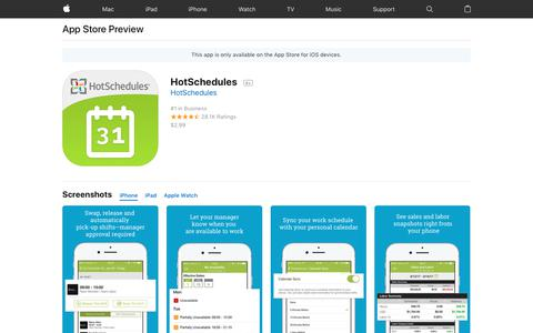 HotSchedules on the AppStore