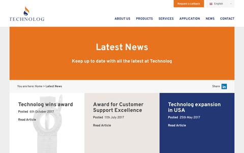 Screenshot of Press Page technolog.com - Latest News - Technolog - captured Nov. 5, 2017