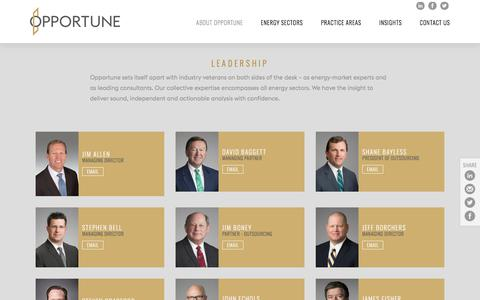 Screenshot of Team Page opportune.com - Leadership - captured Sept. 20, 2018