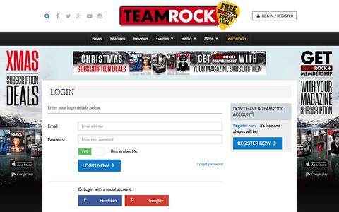 Screenshot of Login Page teamrock.com - TeamRock - captured Dec. 5, 2015