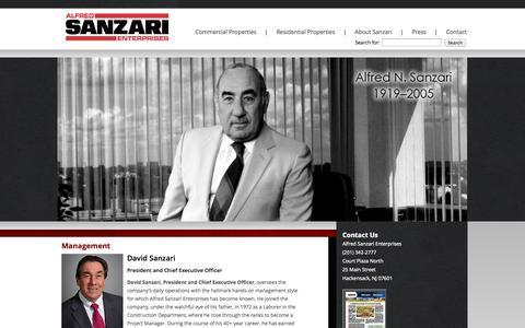 Screenshot of Team Page sanzari.com - Alfred Sanzari Enterprises management | Sanzari Enterprises - captured Oct. 4, 2014