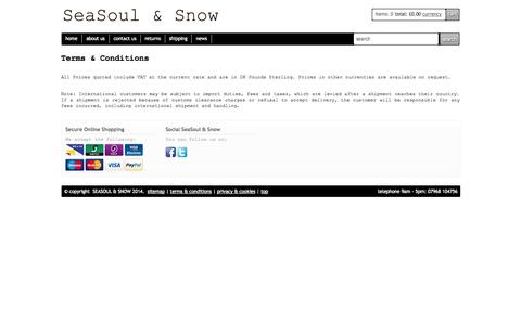 Screenshot of Terms Page seasoulandsnow.com - SeaSoul & Snow Terms and Conditions - captured Oct. 7, 2014