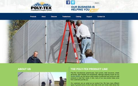 Screenshot of About Page poly-tex.com - About Us - captured Sept. 23, 2014