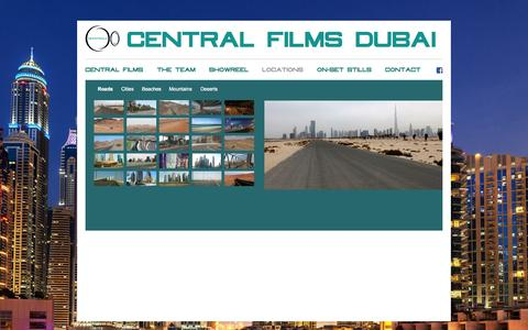 Screenshot of Locations Page centralfilms.com - Central Films - captured July 19, 2015