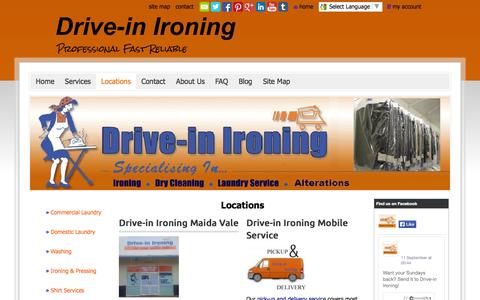 Screenshot of Locations Page drive-inironing.com.au - www.driveinironing.com.au - Locations - captured Sept. 30, 2014