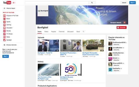 Screenshot of YouTube Page youtube.com - Bonfiglioli  - YouTube - captured Oct. 26, 2014