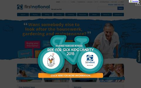 Screenshot of Home Page firstnational.com.au - Properties For Sale & For Rent - First National Real Estate - captured Oct. 5, 2015