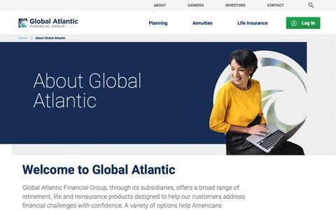 Screenshot of About Page globalatlantic.com - About Global Atlantic | Global Atlantic Financial Group - captured Sept. 28, 2018