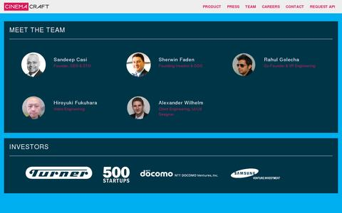 Screenshot of Team Page cinemacraft.tv - Cinemacraft - captured July 19, 2014