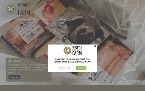 Screenshot of Home Page woodysfarm.co.nz - Woody's Free Range Farm | Producers of rare breed meat and bacon from free range pigs. - captured Feb. 16, 2016