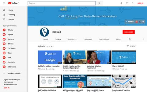 CallRail - YouTube - YouTube