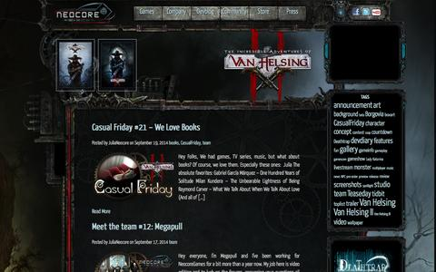 Screenshot of Team Page neocoregames.com - team | - captured Sept. 19, 2014