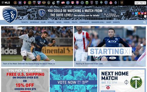 Screenshot of Home Page sportingkc.com - Sporting Kansas City - captured June 21, 2017