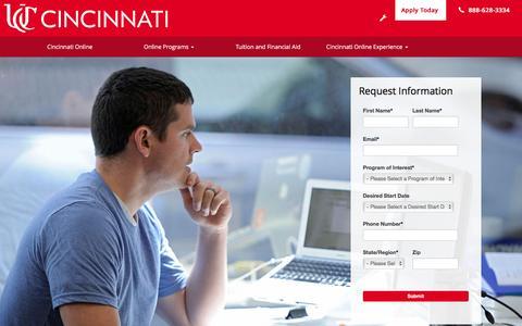 Welcome to Cincinnati Online, University of Cincinnati