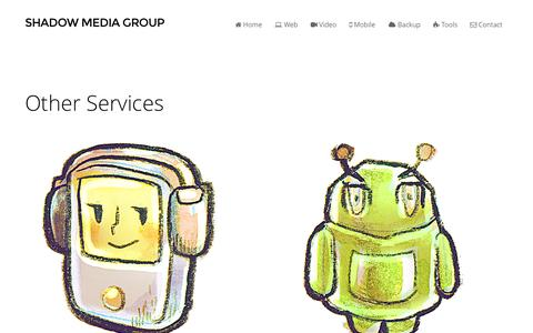 Screenshot of Services Page shadowmediagroup.com - Other Services - Shadow Media Group - captured Oct. 26, 2014