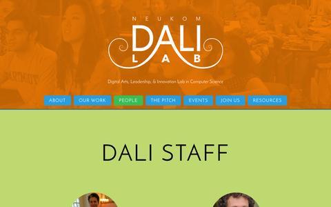 Screenshot of Team Page dartmouth.edu - People - captured Oct. 26, 2014