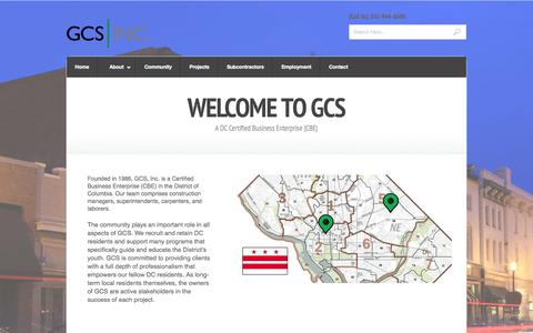 Screenshot of Home Page gcs-dc.com - GCS, Inc. - captured Oct. 1, 2014