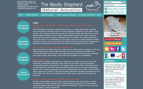 Screenshot of FAQ Page woollyshepherd.co.uk - FAQs - captured Oct. 7, 2014