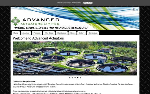 Screenshot of Home Page advanced-actuators.com - Advanced Actuators: Actuators, control solutions & hydraulics - captured Feb. 5, 2016