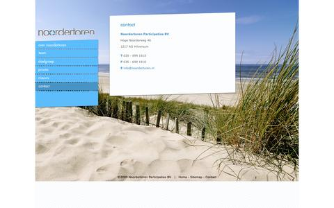 Screenshot of Contact Page noordertoren.nl - noordertoren - captured Oct. 26, 2014