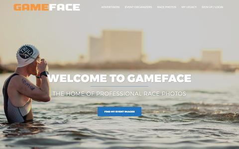 Screenshot of Home Page gamefacemedia.com - Free Professional Event Photography - Gameface Media - captured May 14, 2017