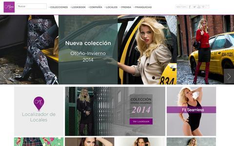 Screenshot of Home Page morapanty.com - Medias Mora - captured Oct. 1, 2014