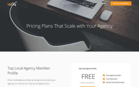 Screenshot of Pricing Page upcity.com - SEO Software Pricing, SEO Reseller Pricing | UpCity - captured Sept. 21, 2018