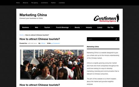 How to attract Chinese tourists? - Marketing China