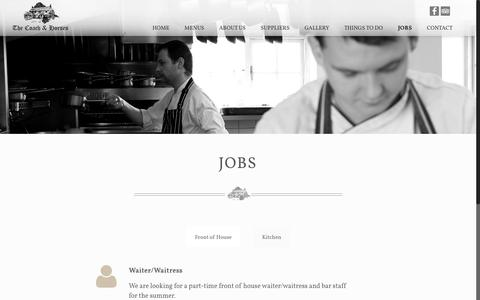 Screenshot of Jobs Page coachandhorses.co - Jobs | The Coach & Horses - captured June 13, 2016