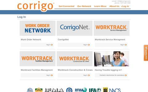 Log In | Corrigo