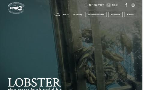 Screenshot of Home Page mainelobsteroutlet.com - Fresh Maine Lobsters | Lobsters Delivered | Maine Lobster Outlet - captured May 10, 2017