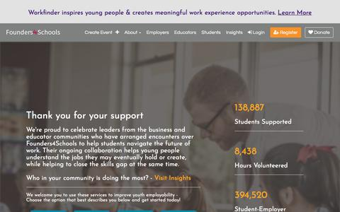Screenshot of Home Page founders4schools.org.uk - Welcome to Founders4Schools | founders4schools - captured Aug. 17, 2018